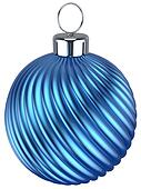Christmas ball bauble New Years Eve decoration blue