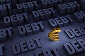 Euro Surrounded By Rising Debt