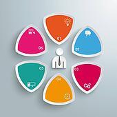 6 Round Triangles Businessman PiAd