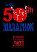50th Marathon Race Poster