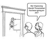 Improving morale
