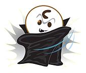 Vampire cartoon black devil