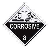 Corrosive Warning Label