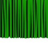 Green curtain from the theater