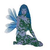 Translucent Blue Fairy