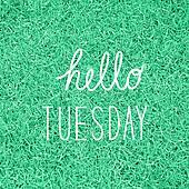 Hello Tuesday greeting