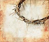 Crown of Thorns on Grunge Background