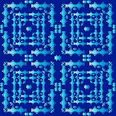 oriental style seamless pattern vector three