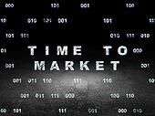 Time concept: Time to Market in grunge dark room