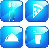Restaurant  web 2.0 icons