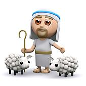 3d Jesus the shepherd