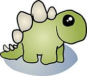 Stegosaurus dinosaur cartoon