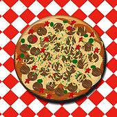 pepperoni pizza illustration