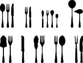 Silverware Clip Art - Royalty Free - GoGraph