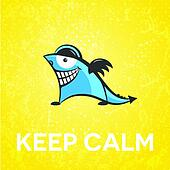 Keep calm funny character