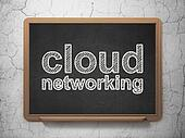 Cloud technology concept: Cloud Networking on chalkboard background