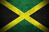 grunge flag of Jamaica