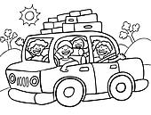 Road Trip Line Art