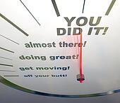 Motivational Speedometer - You Did It