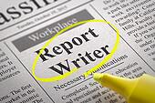 Report Writer Vacancy in Newspaper.