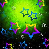 Space Stars Backround Shows Light Explosion In Sky