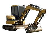 Perspective of a mechanical digger