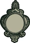 classic fancy mirror emblem