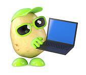 3d Potato nerd