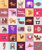 Zoo Animals vector illustration