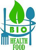 Bio health food icon