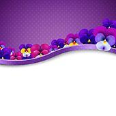 Lilac Flowers Pansies Border