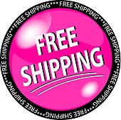 pink free shipping button