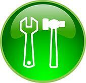 green repair button