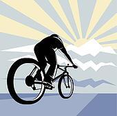 Cyclist upward view