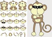 cute monkey set