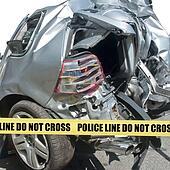 Car accident close-up