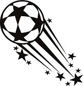 Speeding ball decorated with stars