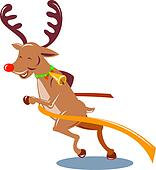 Reindeer crossing the finish line