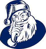 Santa Claus pointing his finger