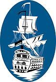 Rear galleon ship