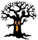 Spooky tree silhouette