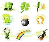 St. Patrick's Day icon set