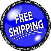 blue free shipping button