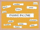 Passive Income Corkboard Word Concept