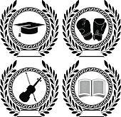 Academic Achievement Vectors - Royalty Free - GoGraph