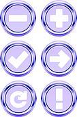web 3D button icon symbol