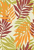 seamless tropical plant pattern