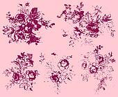 fancy floral element