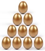 Golden eggs pyramid