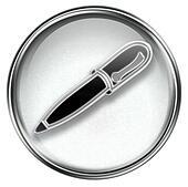 pen icon grey